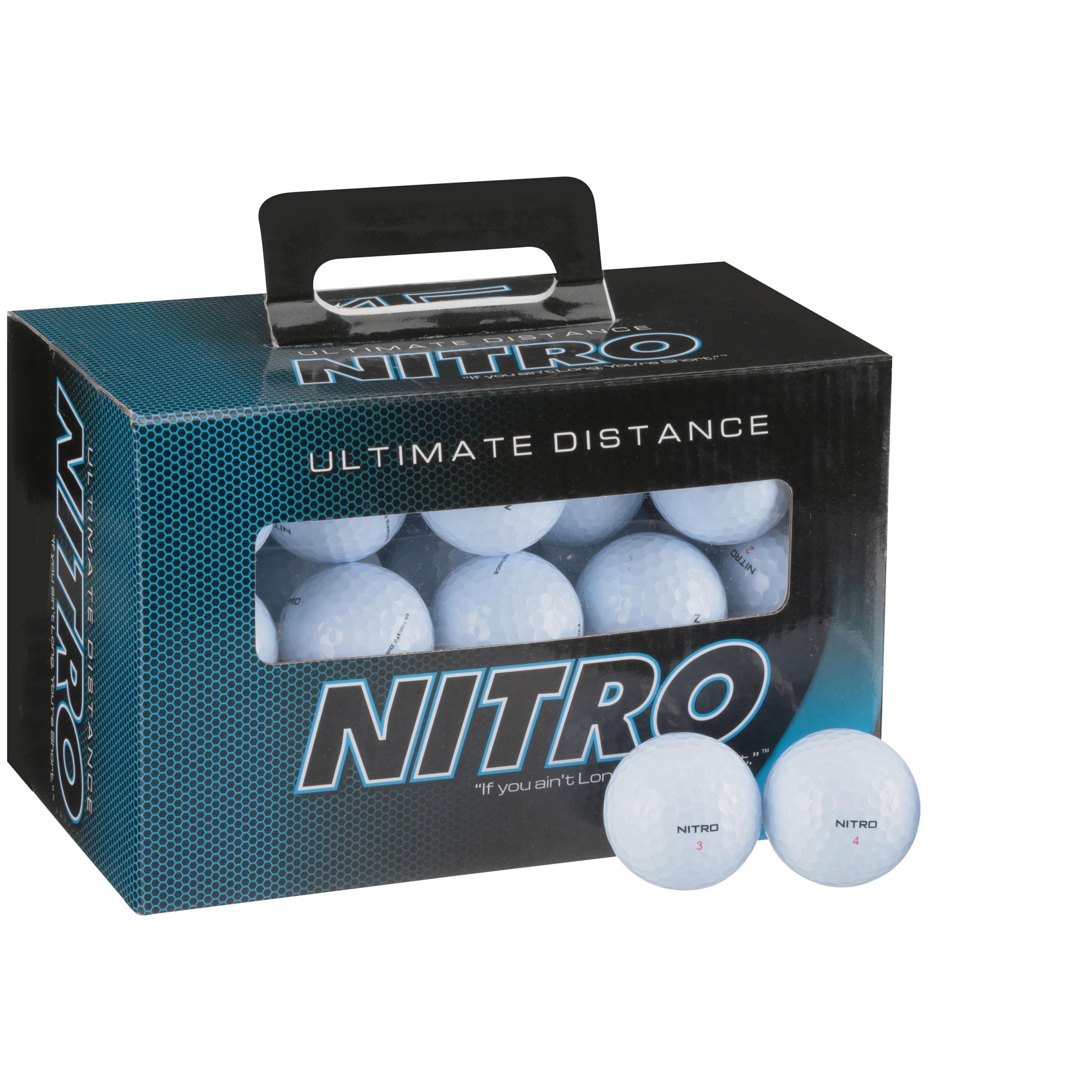 Nitro Ultimate Distance Golf Balls, 45 Pack