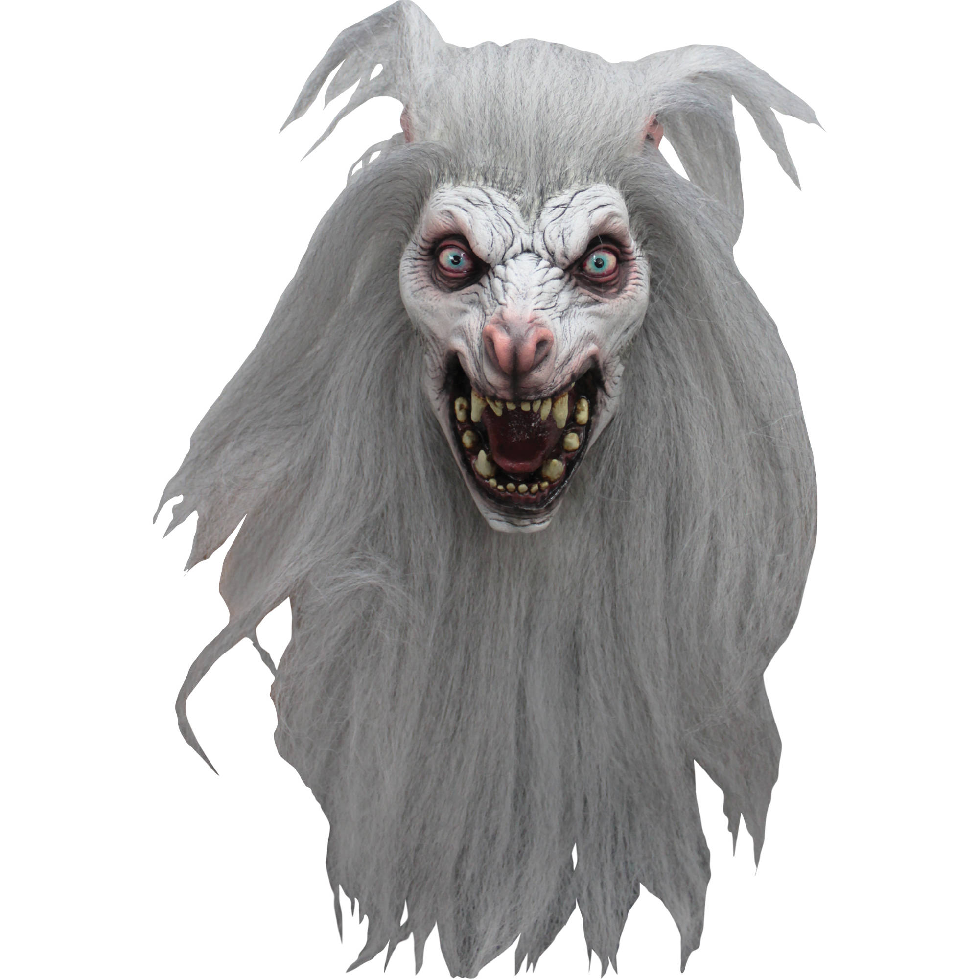 White Moon Mask Adult Halloween Accessory