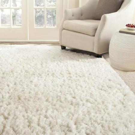 Safavieh Handmade Arctic Shag White Polyester Rug 10 X 14