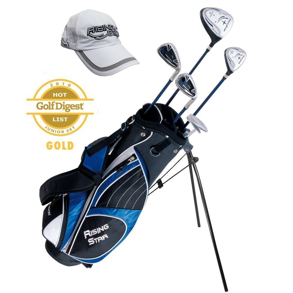 Paragon Rising Star Kids Golf Clubs Set / Ages 11-13 Blue With FREE Golf Gift / Left-Hand