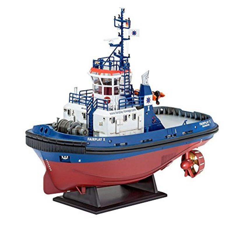 Revell Germany Harbour Tug Boat Fairplay I/III/X Building...