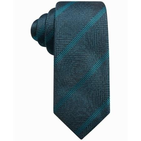 Alfani Aqua Green Men's One Size Linda Stripe Silk Neck Tie