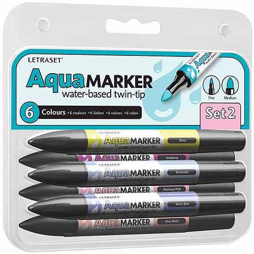 Fine Artist Letraset Aquamarker Gift Set