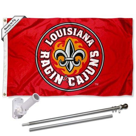 UL Lafayette Ragin Cajuns Fleur 3x5 Flag and Accessory