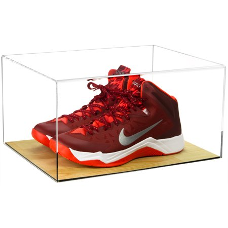4d8578c225d Deluxe Acrylic Clear Basketball Shoe Display Case with Wood Floor (A026) -  Walmart.com