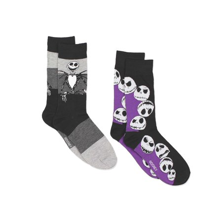 The Nightmare Before Christmas Mens 2 pack Crew Socks NB045MCC