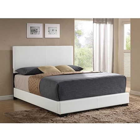Ireland Queen Faux Leather Bed, White