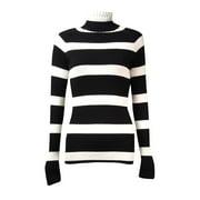 INC International Concepts Women's Stripe Turtleneck Sweater