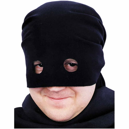 Black Bandit Head Scarf Adult Halloween Accessory