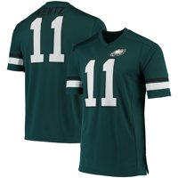 Men's Fanatics Branded Carson Wentz Midnight Green/Black Philadelphia Eagles Game Great Jersey