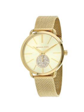Michael Kors Portia Quartz Movement Gold Dial Ladies Watch MK3844