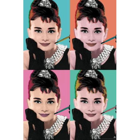 Audrey Hepburn Breakfast at Tiffanys Cigarette Pop Art Movie Poster 24x36 inch