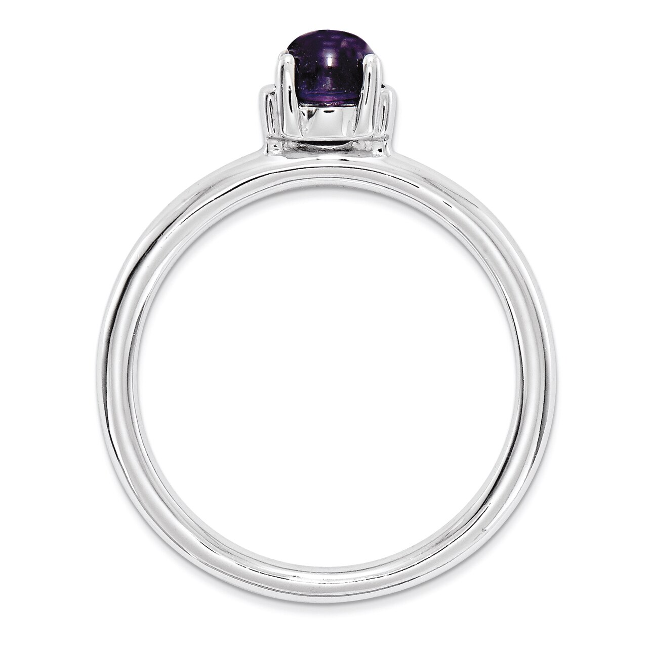 Details about  /Sterling Silver 4 MM 925 and Gold-tone Accents Amethyst and Diamond Ring