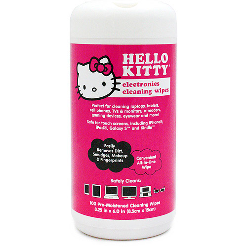 HELLO KITTY 902947 Cleaning Wet Wipes 100-ct Container