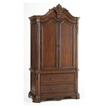 tv armoire in dark cherry finish. Black Bedroom Furniture Sets. Home Design Ideas