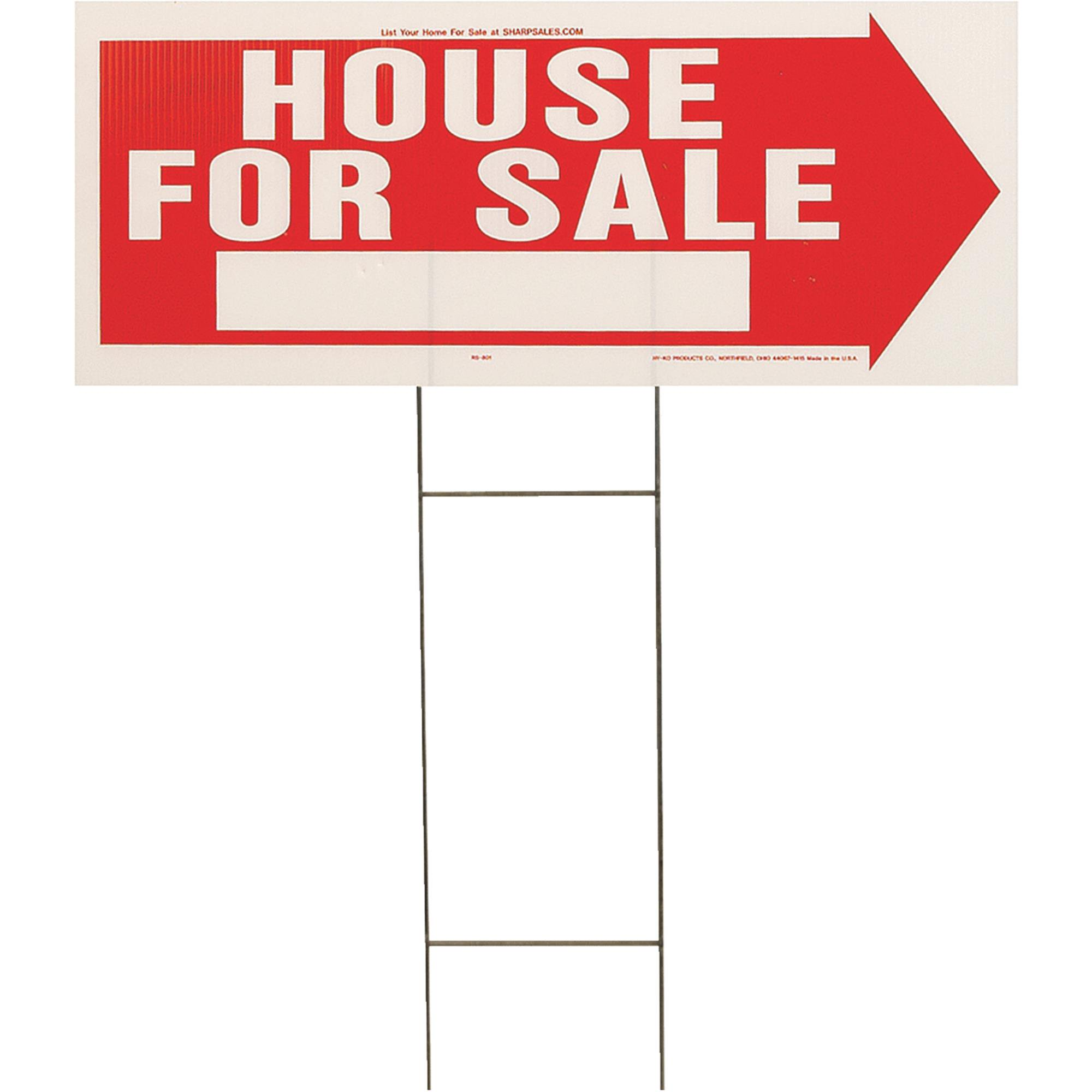 Hy-Ko Corrugated Plastic Lawn Sign with Frame