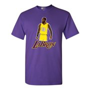 Labron The Look Lebron 23 King Los Angeles Basketball Fan DT Adult T-Shirt Tee