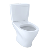TOTO® Aquia® II Two-Piece Elongated Dual-Max®, Dual Flush 1.6 and 0.9 GPF Skirted Toilet, Cotton White - CST416M#01