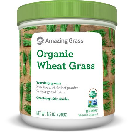 Amazing Grass Organic Wheatgrass Powder, 8.5 Oz (Best Wheatgrass Powder Reviews)