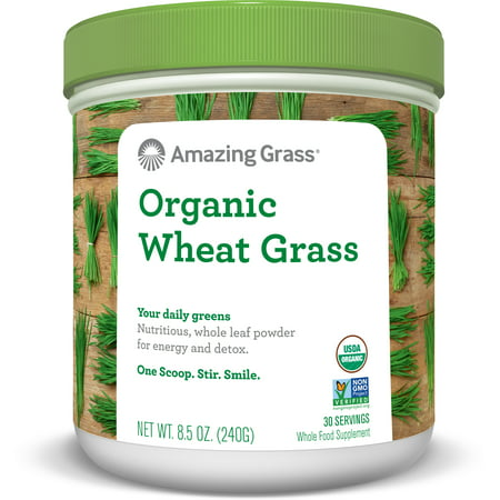 - Amazing Grass Organic Wheatgrass Powder, 8.5 Oz
