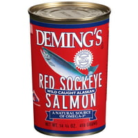 Deming's Red Sockeye Wild Caught Alaskan Salmon, 14.75 Oz
