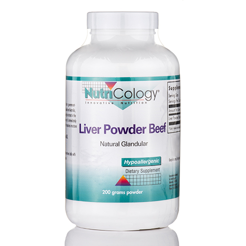 Liver Powder Beef Powder (Natural Glandular) - 200 Grams by NutriCology