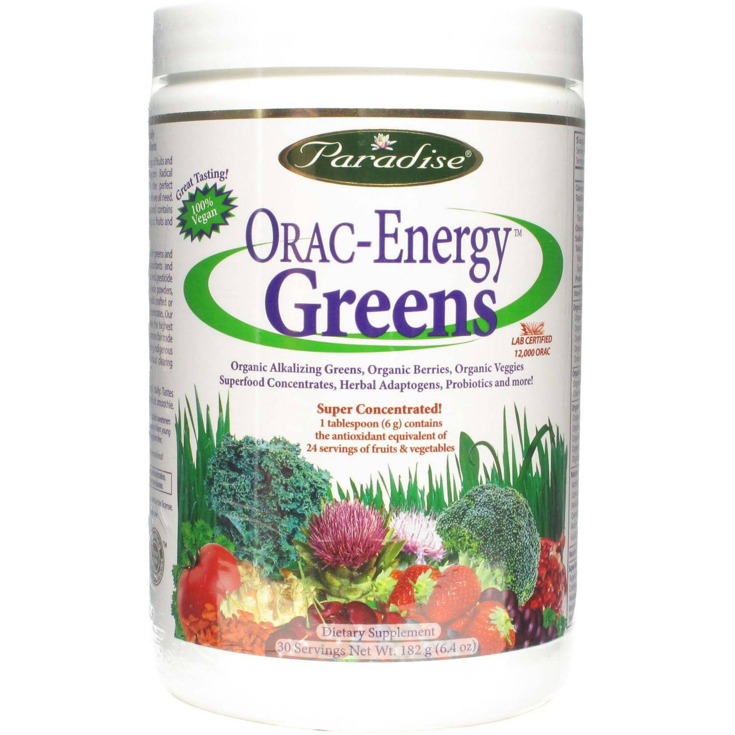 Paradise Herbs Orac-Energy Greens, 182 GM