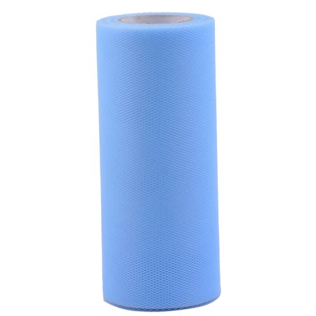 Wedding Party Polyester Table DIY Tulle Spool Roll Light Blue 6 Inch x 25 Yards Diy Wedding Table