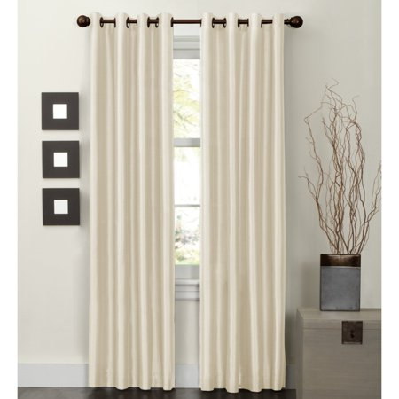 Maytex Jardin Faux Silk Thermal-Lined Energy Window Panel (Indigo Collection)