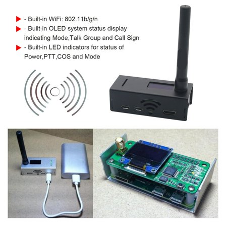 OLED Display Aluminum MMDVM hotspot Support P25 DMR YSF +