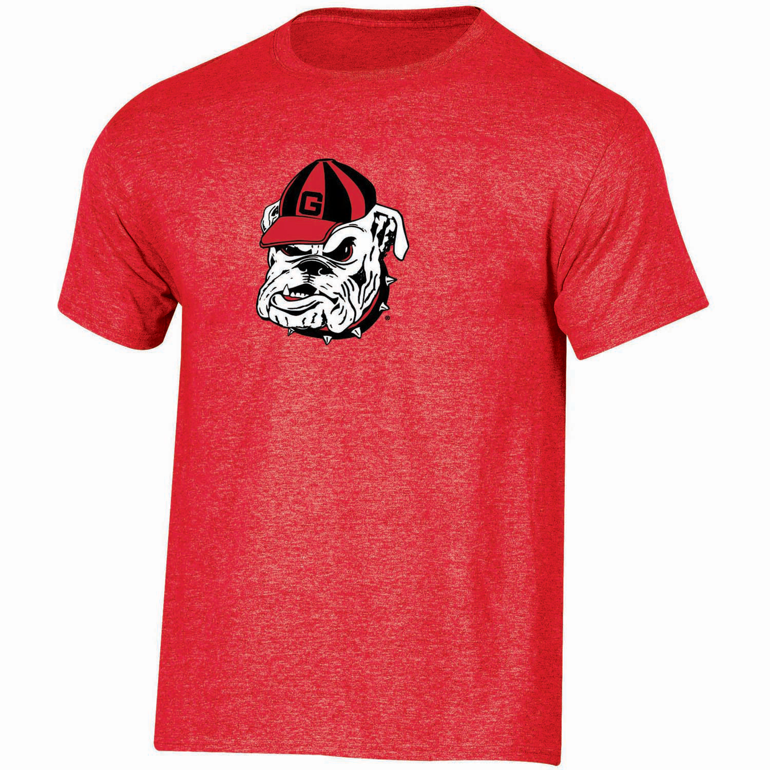 Youth Russell Red Georgia Bulldogs Oversized Graphic Crew Neck T-Shirt