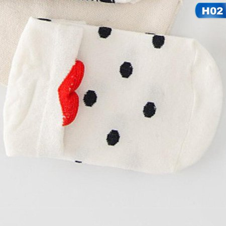SHOPFIVE  Casual Cotton Red Heart Short Ankle Socks Cute Socks For Women Gril Sock Hosiery Gifts ()