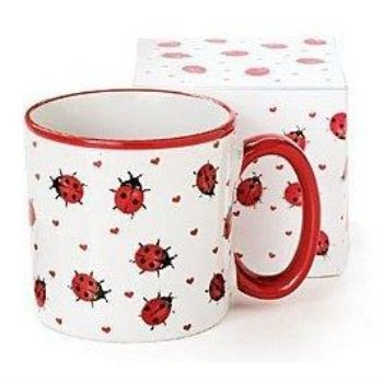 Adorable Ladybug Coffee Mug/Cup With Gift Box Inexpensive Gift Item For Ladybug Lovers](Inexpensive Mothers Day Gifts)