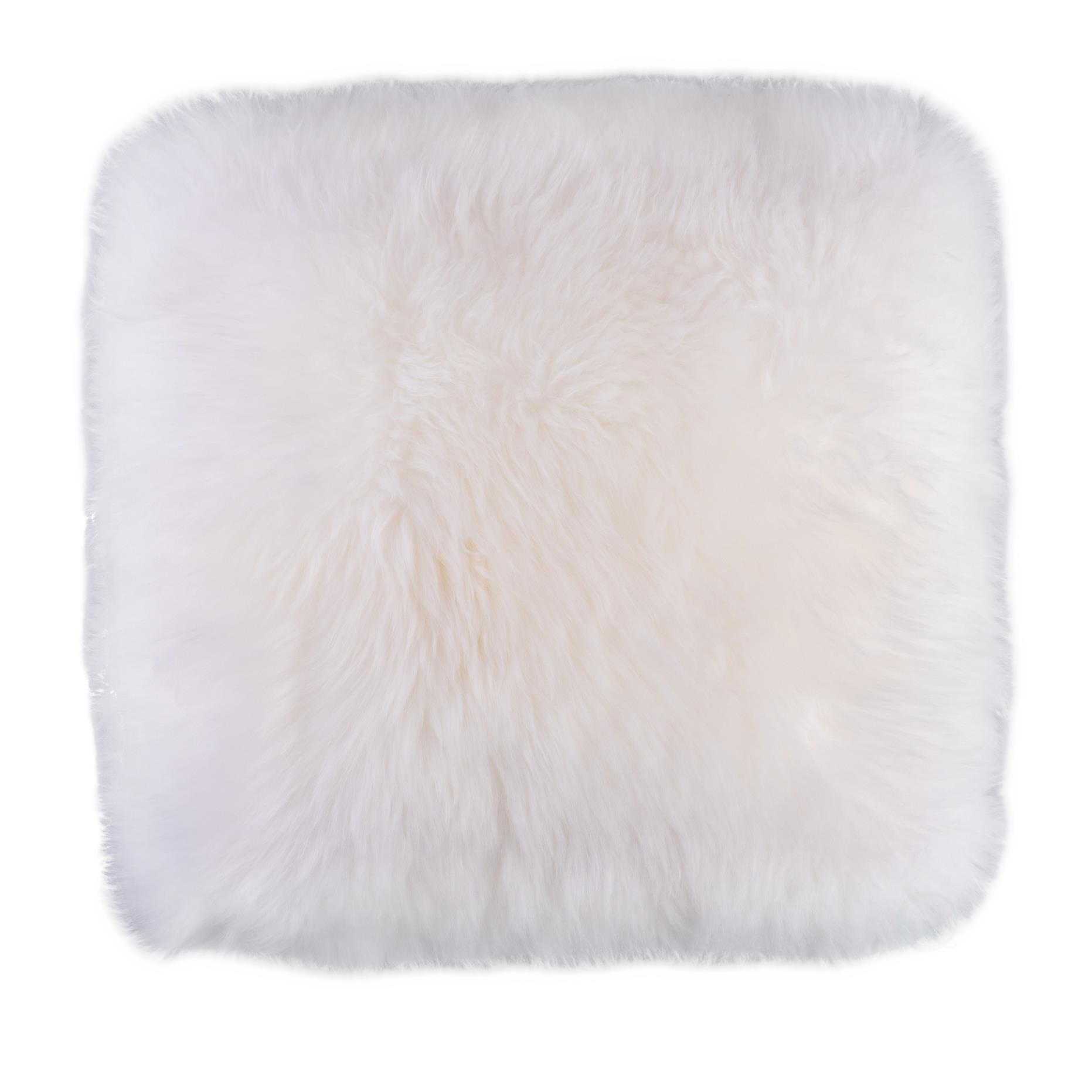 Genuine Australian Lamb Fur Sheepskin Square Pillow Cover 16 In White Walmart Com Walmart Com