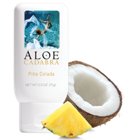 Flavored Personal Lube for Oral Use, Best Edible Sex Lubricant for Men, Women and Couples, Organic Pina Colada, Aloe Cadabra Water Based Lube 2.5 OZ