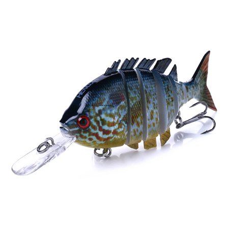 10cm/12g Lifelike 6 Jointed Sections Swimbait Fishing Lure Crankbait Hard Bait Fish Hook Fishing Tackle thumbnail