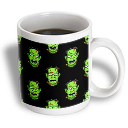 3dRose PATTERN halloween zombie frankenstein 1, Ceramic Mug, 15-ounce](Halloween Frankenstein Jello Cups)