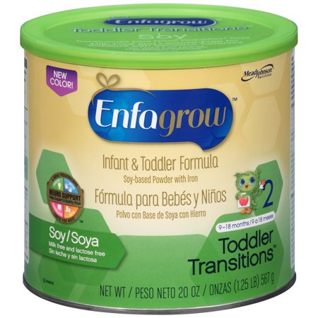 Enfagrowâ ¢ Toddler Transitionsâ ¢ Soy Infant & Toddler Formula Powder 21 oz. Canister
