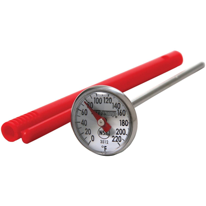 F To 220 deg Taylor  Analog  Meat Thermometer  0 deg F