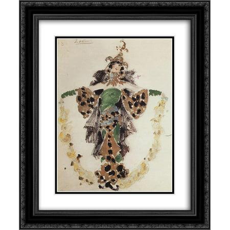 Konstantin Korovin 2x Matted 20x24 Black Ornate Framed Art Print 'Khan's wife, costume design for C.Pugni`s ballet'
