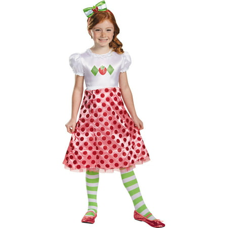 Strawberry Shortcake Classic Child Halloween Costume - Strawberry Shortcake Onesie