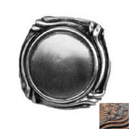 Anne at Home 1097-730 Small Mai Oui Thin Knob in Black with Terra (Home Mai Oui Thin)
