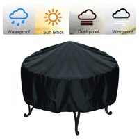 30''x23'' BBQ Cover Heavy Duty Waterproof Round Fire Pit Barbeque Grill Protector