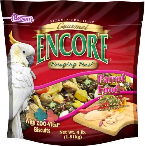 Brown's Encore Gourmet Foraging Feast Parrot Bird Food, 4 Lb by F.M. BROWN'S SONS, INC.