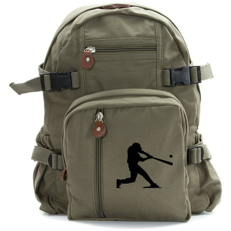 Baseball Player Heavyweight Canvas Army Sport Hiking