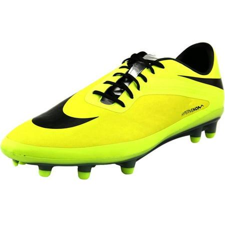 design de qualité eed6e f056a Nike Hypervenom Phatal FG Men US 6.5 Yellow Cleats - Walmart.com