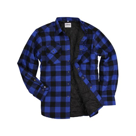 Urban Boundaries Men S Insulated Quilted Lined Flannel Shirt
