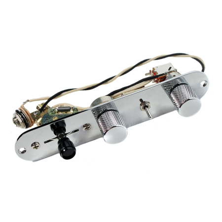 Fender Nashville Tele Loaded 7-Way Control Plate, Chrome - CTS - CRL - Coil Tap
