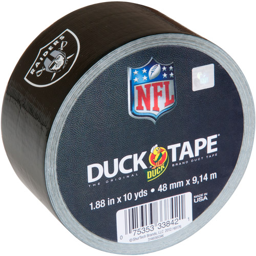 "Duck Brand Duct Tape, NFL Duck Tape, 1.88"" x 10 yard, Oakland Raiders"