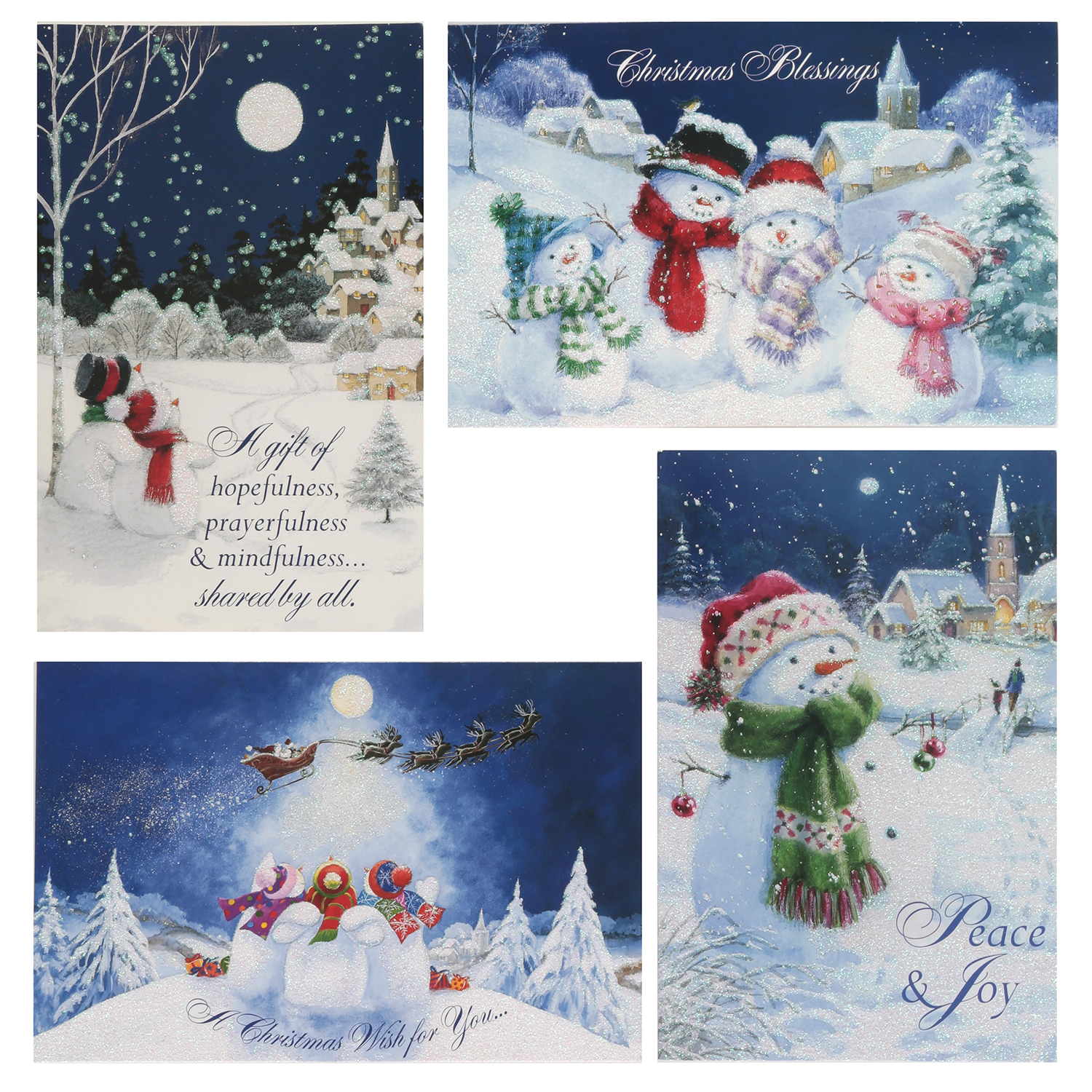 Holiday Time Trad Snowman 40ct Cards